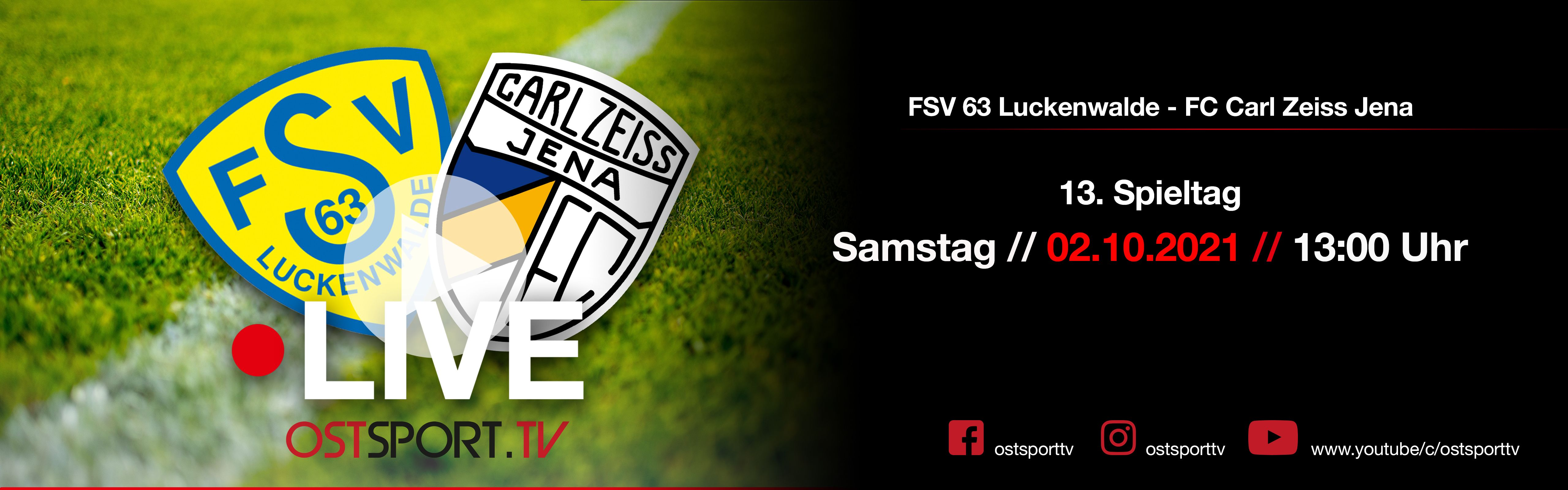 13. Spieltag LIVE auf OSTSPORT.TV